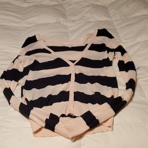 Pink and black striped shirt